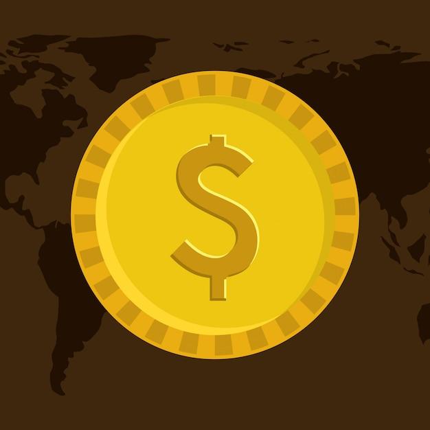 Conception de l'argent Vecteur Premium