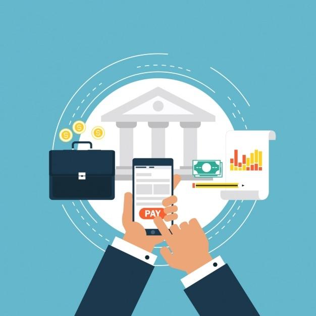 La Conception D'arrière-plan Bancaire Vecteur gratuit
