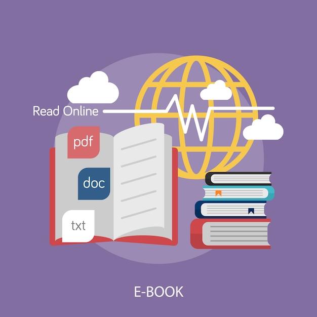 Conception D'arrière-plan E-book Vecteur gratuit