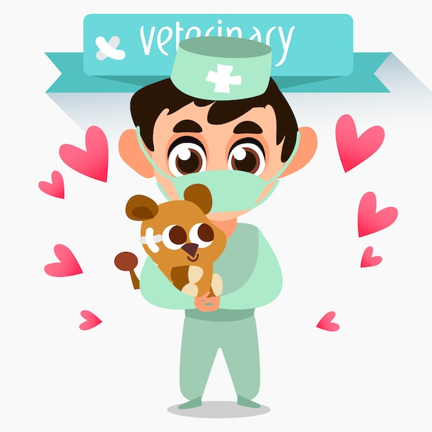 Conception d'arrière-plan vétérinaire Vecteur gratuit