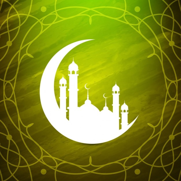 Conception Artistique De Fond Islamique Vecteur gratuit