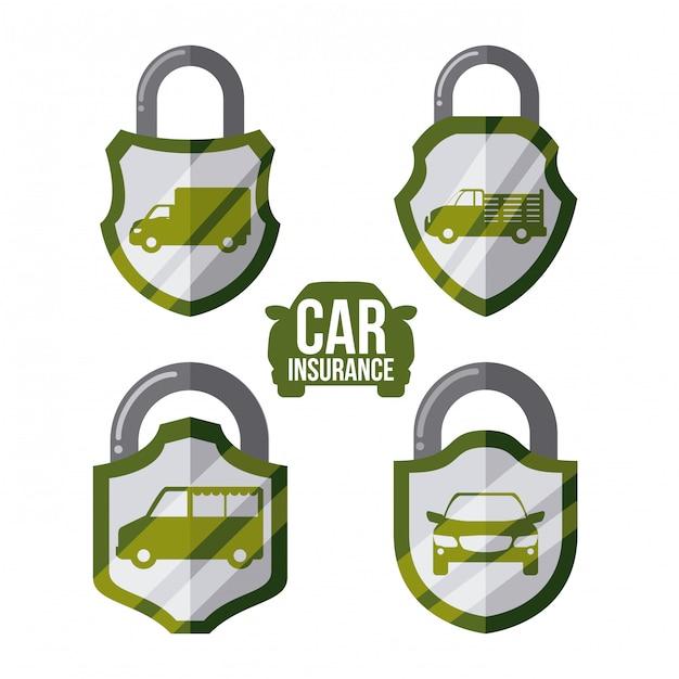 Conception de l'assurance automobile Vecteur Premium