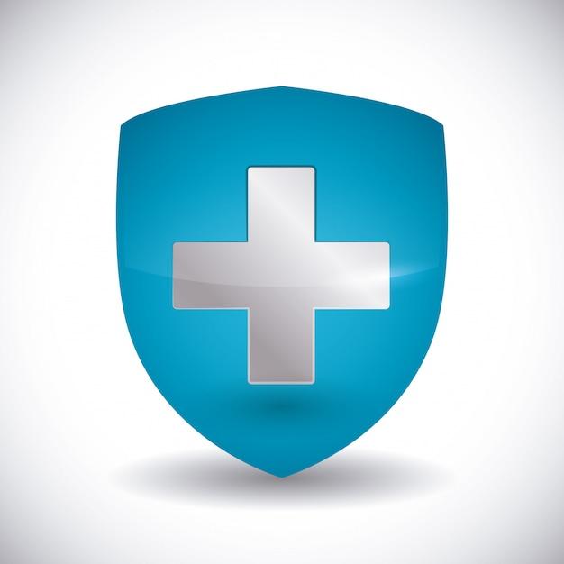 Conception de l'assurance médicale. Vecteur Premium