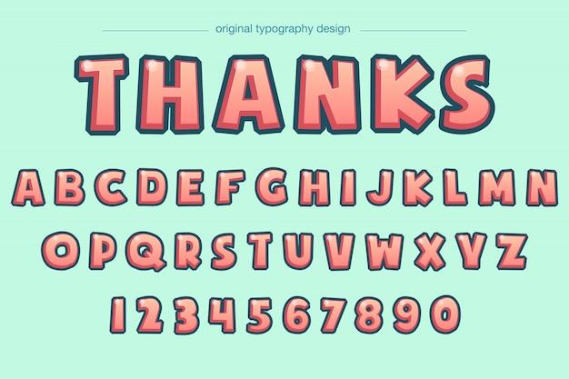 Conception audacieuse de typographie bd biseau audacieux Vecteur Premium