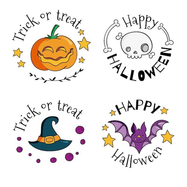 Conception De Badges De Vente Festival Halloween Vecteur gratuit