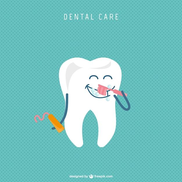 Conception de bande dessinée de dentiste Vecteur gratuit