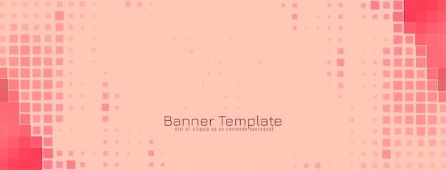 Conception De Bannière Abstraite Mosaïque Moderne Vecteur gratuit