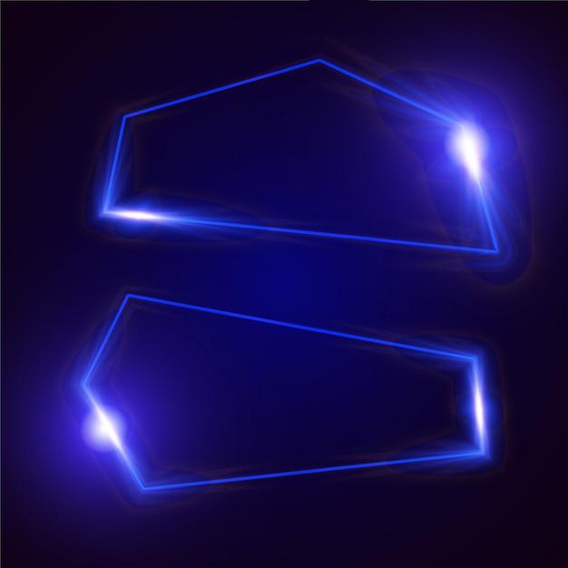 Conception de bannière abstraite vecteur lumineux. conception de bannière modèle bleu. Vecteur Premium