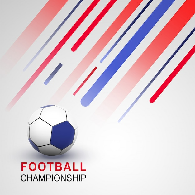 Conception De Bannière Ou D'affiche De Championnat De Football Vecteur Premium
