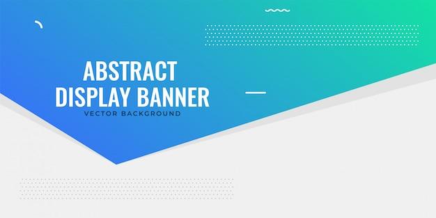 Conception de bannière bleu web élégant Vecteur gratuit