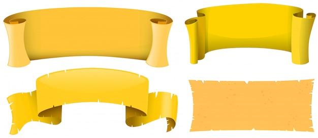 Conception de bannière de couleur jaune Vecteur gratuit