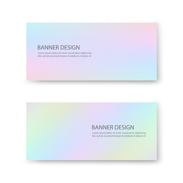 Conception de bannière avec des couleurs pastel Vecteur Premium