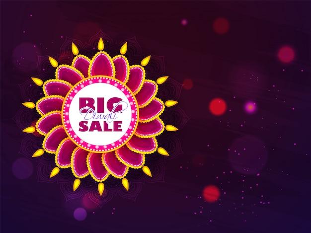Conception de bannière diwali big sale. Vecteur Premium
