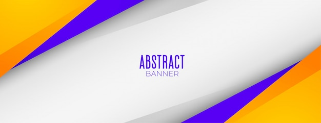 Conception De Bannière De Fond Géométrique Abstrait Jaune Et Violet Moderne Vecteur gratuit