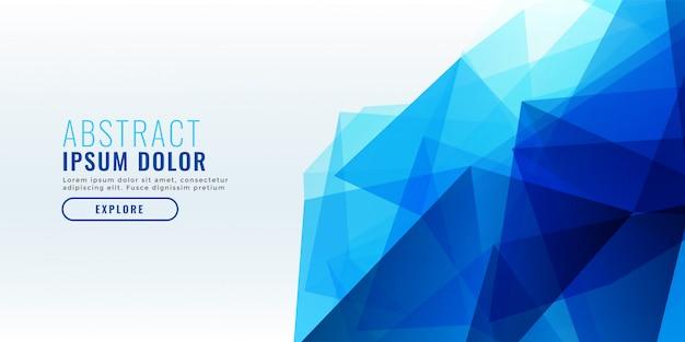 Conception de bannière géométrique abstrait bleu Vecteur gratuit