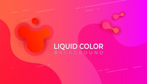 Conception de bannière graphique moderne abstrait coloré pour mobile Vecteur Premium