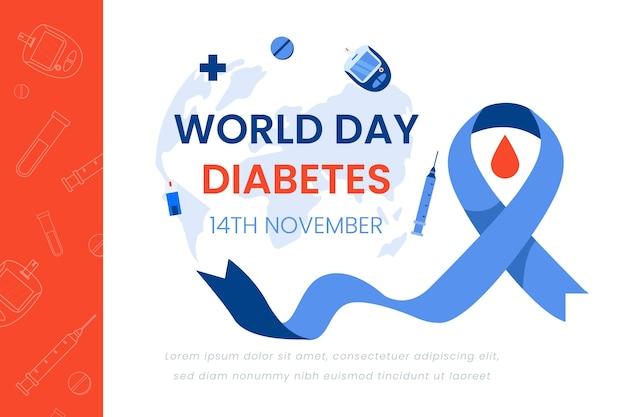 Conception De Bannière De La Journée Mondiale Du Diabète Vecteur Premium