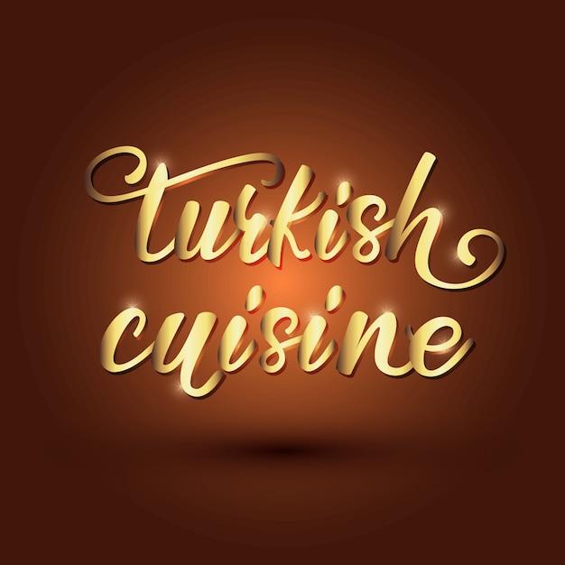 Conception De Bannière Lettrage Cuisine Turque Vecteur Premium