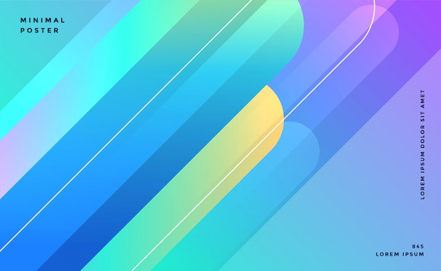 Conception de bannière de lignes abstraites bleues Vecteur gratuit