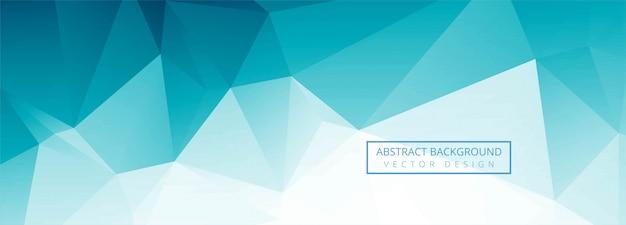 Conception De Bannière De Polygone Bleu Abstrait Vecteur gratuit