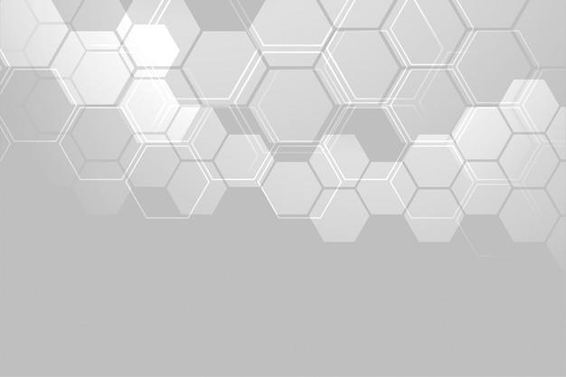 Conception de bannière de structure moléculaire abstraite Vecteur gratuit