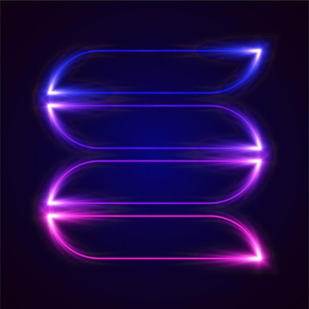Conception de bannière de vecteur lumineux. modèle dégradé bleu et violet. Vecteur Premium