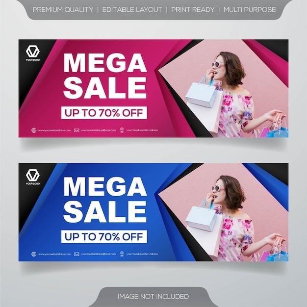 Conception de bannière de vente avec concept moderne Vecteur Premium