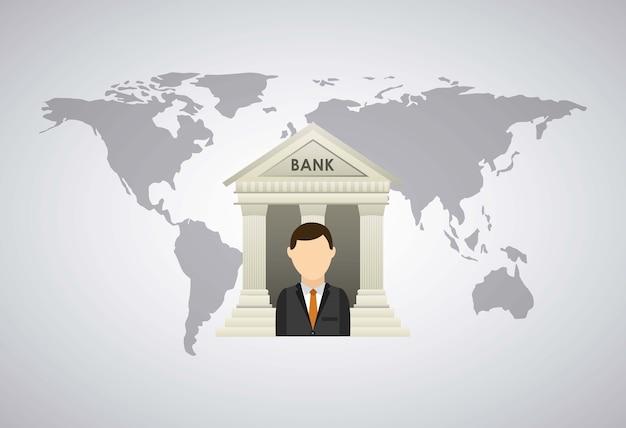 Conception de banque et d'argent Vecteur Premium