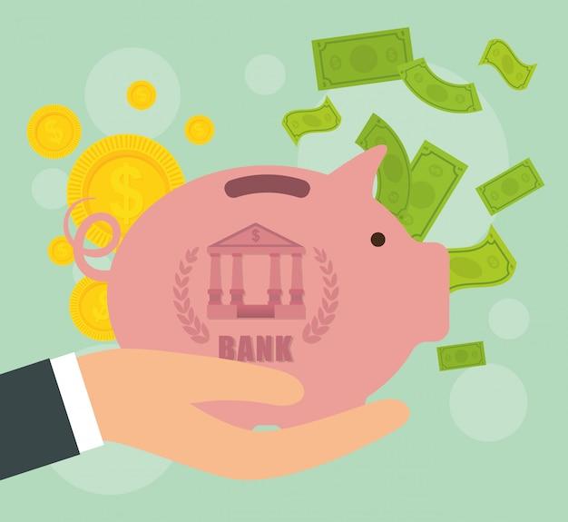 Conception de la banque Vecteur Premium
