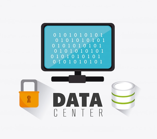Conception de la base de données. Vecteur gratuit