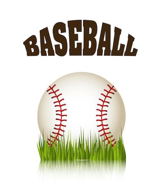 Conception de baseball Vecteur Premium