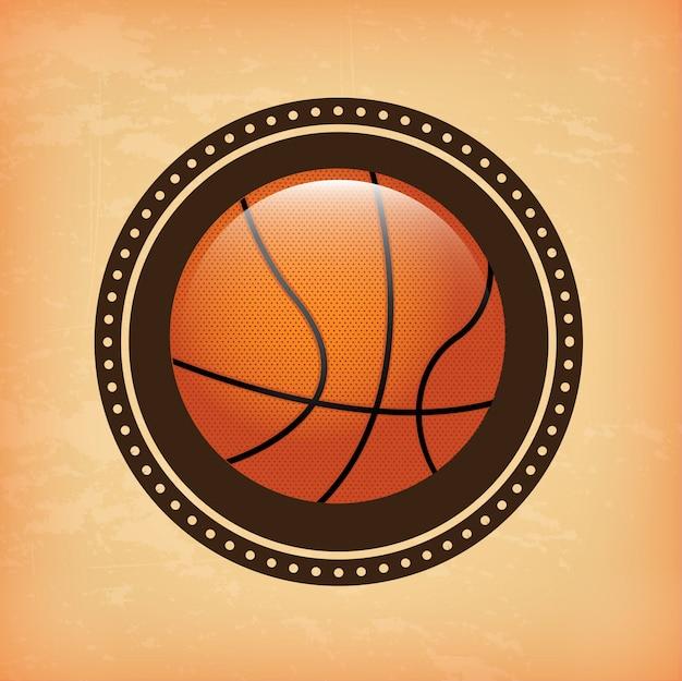 Conception de basket-ball Vecteur Premium