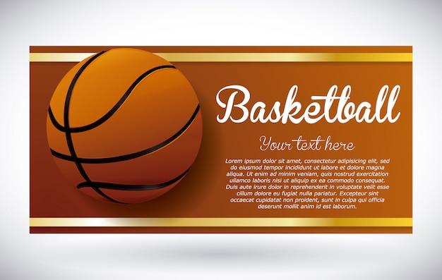 Conception de basket Vecteur Premium