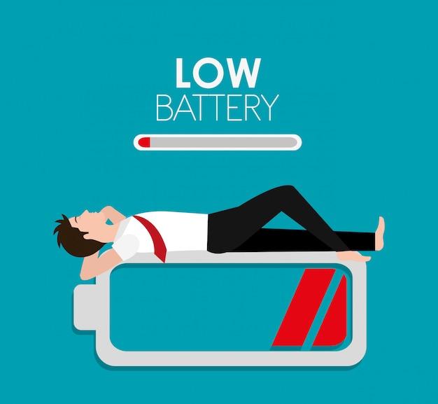 Conception de la batterie. Vecteur Premium