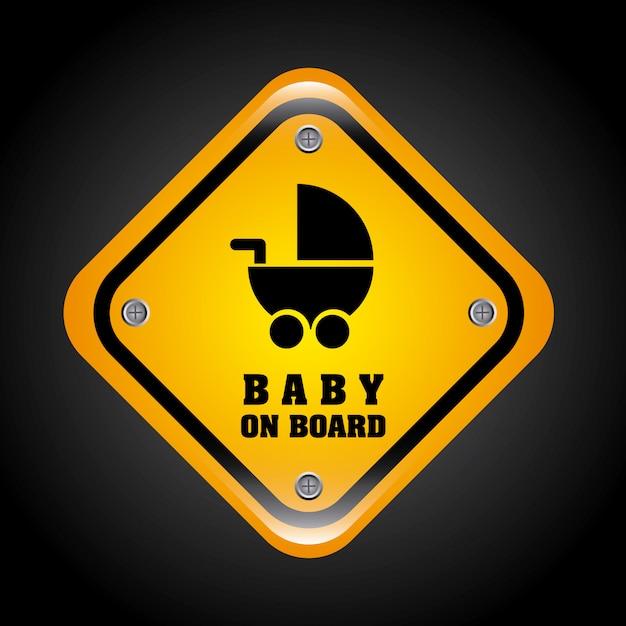 Conception de bébé à bord Vecteur gratuit