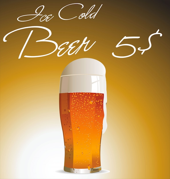 Conception de la bière Vecteur Premium