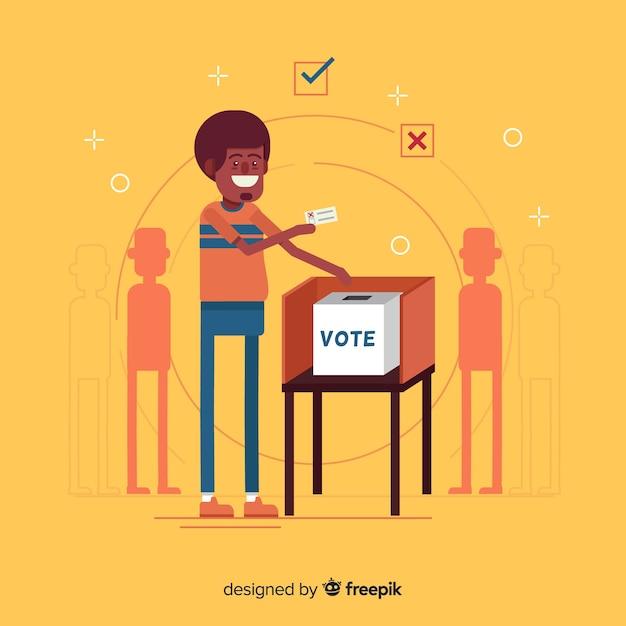 Conception de la boîte d'élection Vecteur gratuit