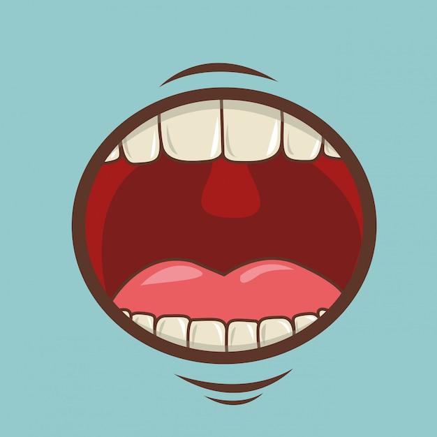 Conception de la bouche Vecteur Premium