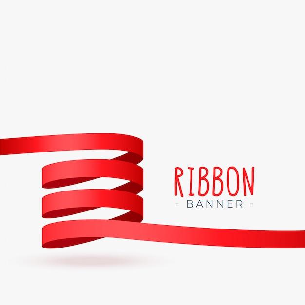 Conception de boucle de ruban rouge Vecteur gratuit