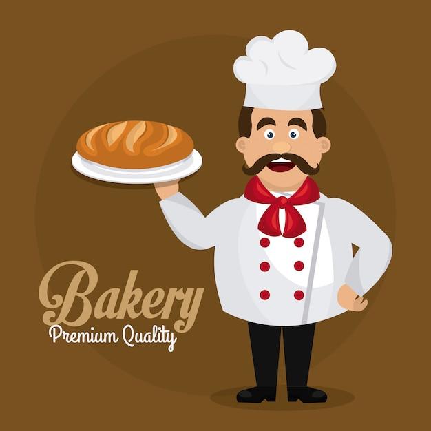 Conception de boulangerie, dessert et barre de lait. Vecteur gratuit