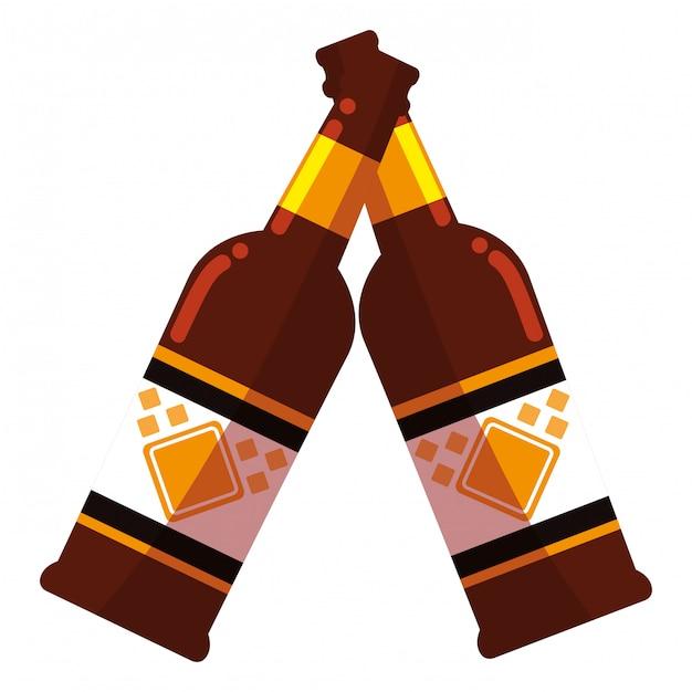 Conception de bouteille de bière Vecteur Premium
