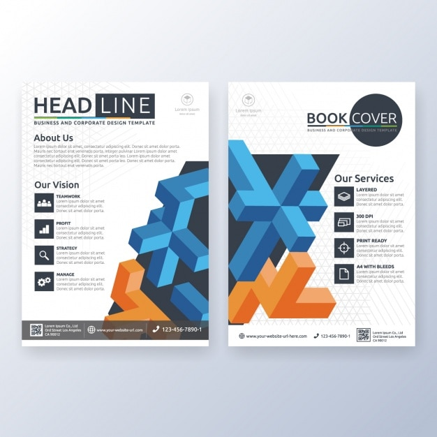 Conception de la brochure d'affaires Vecteur gratuit