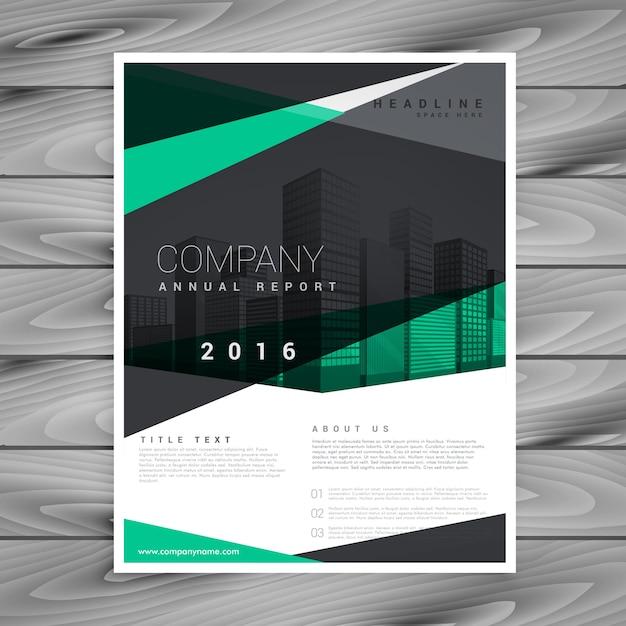Conception de brochure d'entreprise élégante forme géométrique Vecteur gratuit