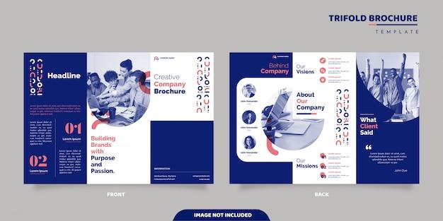 Conception De Brochure D'entreprise à Trois Volets Vecteur Premium