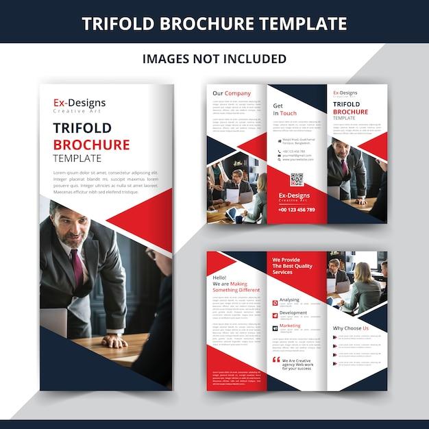 Conception De Brochure Professionnelle Tri Fold Vecteur Premium
