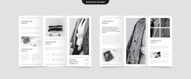 Conception De Brochure à Trois Volets De Style Minimal Vecteur Premium