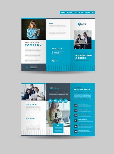 Conception De Brochures à Trois Volets Pour Les Entreprises Vecteur Premium