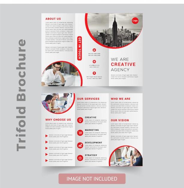 Conception de brochures à trois volets professionnelle Vecteur Premium