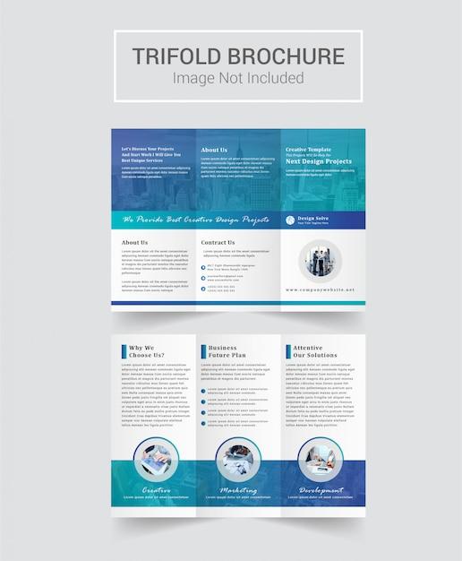 Conception De Brochures à Trois Volets à Usages Multiples Vecteur Premium