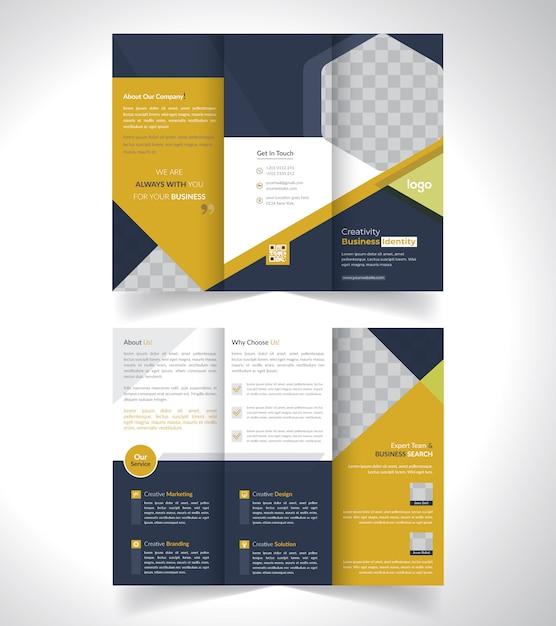 Conception De Brochures à Trois Volets Vecteur Premium